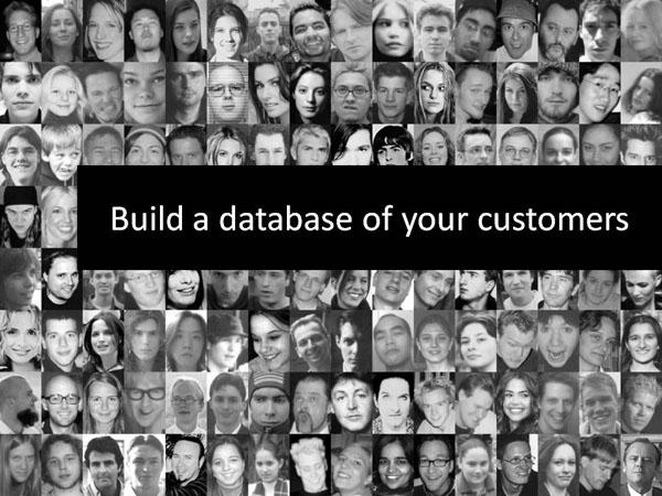 building a database of your customers at lyric's marketing tips lyricmarketing.com