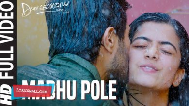 Photo of Madhu Pole Lyrics | Dear Comrade Malayalam Movie Songs Lyrics