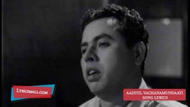 Photo of Aadiyil Vachanamundaayi Lyrics | Chettathi Movie Songs Lyrics