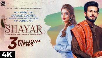Shayar Lyrics - Sarmad Qadeer | Jannat Mirza, Ali Josh