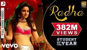 Radha Lyrics - Student of the Year | Shreya Ghoshal, Udit Narayan, Vishal Dadlani, Shekhar Ravjiani