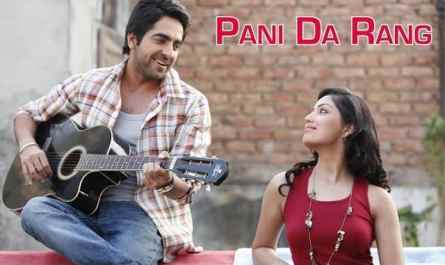 Pani da rang lyrics in English