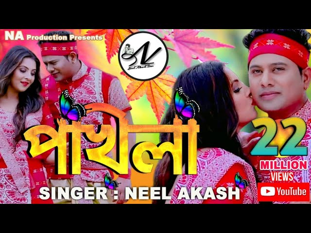 Neel Akash | Pokhila Lyrics | Ujjwal Aarong | Assamese song