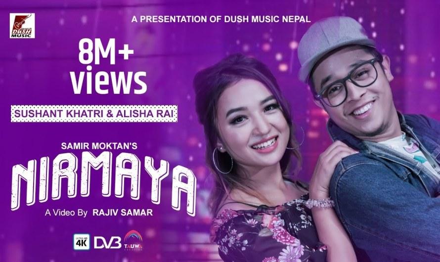 nirmaya lyrics   Sushant Khatri & Alisha Rai   New Nepali Video