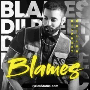 Blames Dilpreet Dhillon Lyrics Status Download Punjabi Song jinna tu badnaam kare Ohne ve maade ni whatsapp status video Black Background