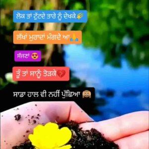 Haal Vi Ni Pucheya Sad Punjabi Love Status Video Lok ta tutde taare nu dekh ke Lakha muraada mangde aa sajjna Tu ta sanu tod ke Sadda haal vi ni pucheya WhatsApp status video.