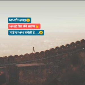 Akad Status in Punjabi Attitude Status Download Video Aapni akad apne kol rakho janab Sade ch taan aap batheri aa WhatsApp status video.