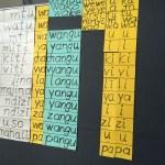 Tabelle der Substantive und der Prä- und Infixe (später auch viel mehr)
