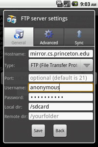 Ftp Ftps Scp And Sftp Android Client Andftp