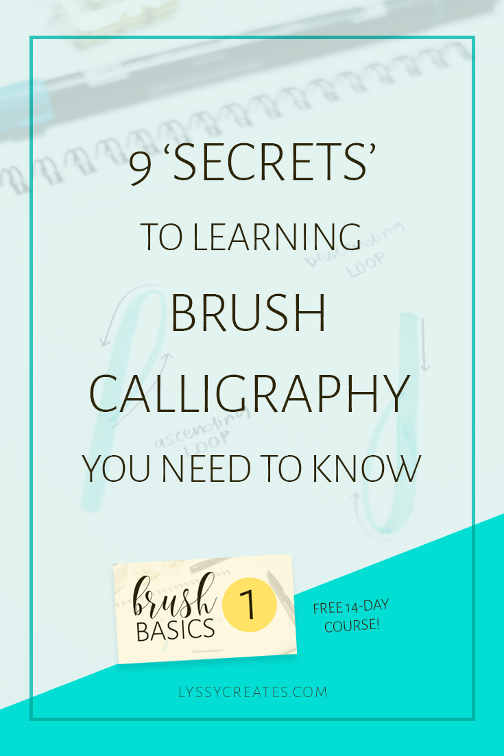 Learn Brush Calligraphy Basic Strokes