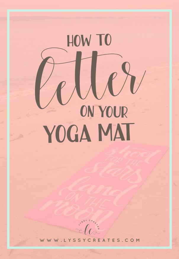 yoga mat lettering