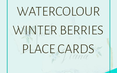 How to Make Watercolour Winter Berries Place Settings