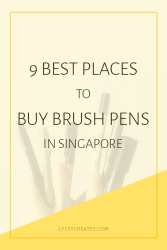 Brush Pen Shopping in Singapore