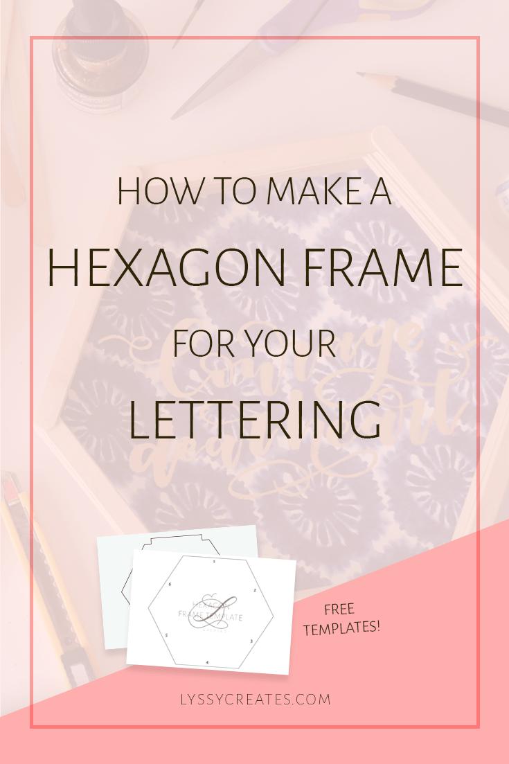 how to make an exact hexagon