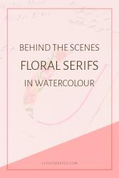 Floral Watercolor Serif Alphabet | InCoWriMo 2018