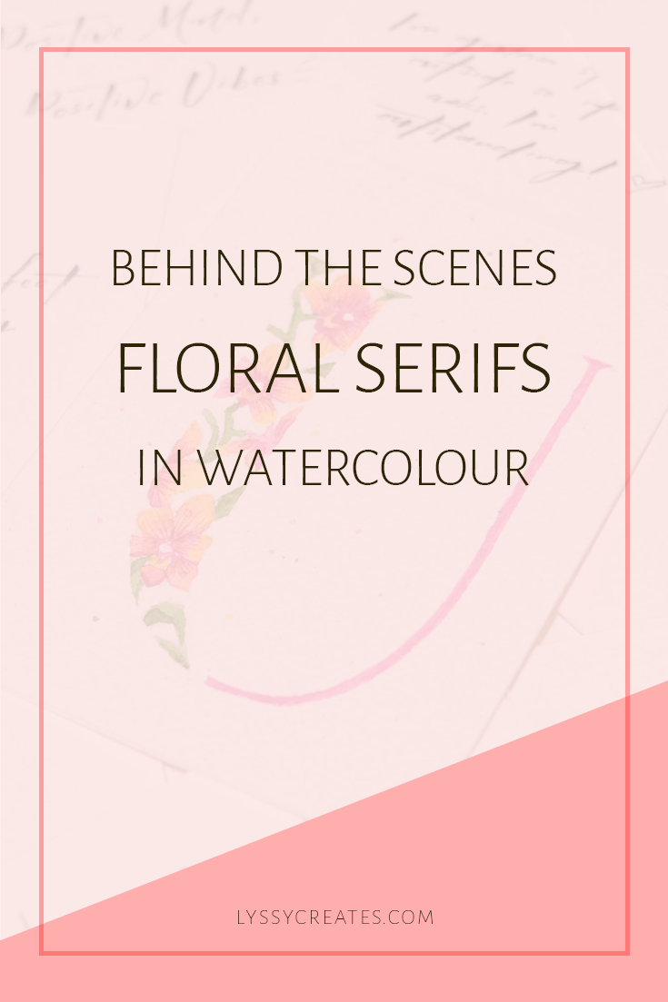 Watercolour Floral Serifs