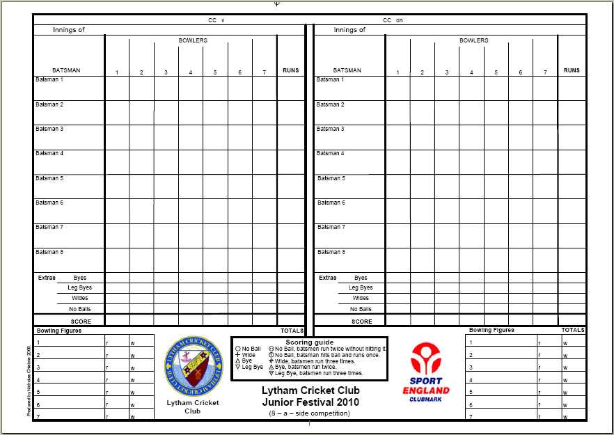 Pinochle Score Sheet TemplateDownload Free Software