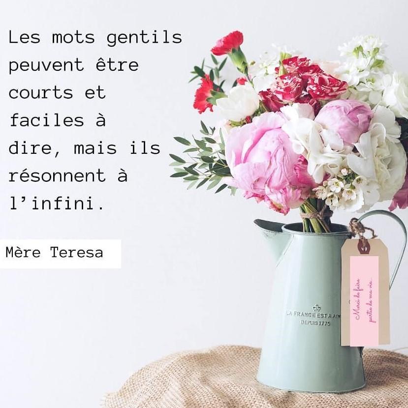 Citation de Mère Teresa