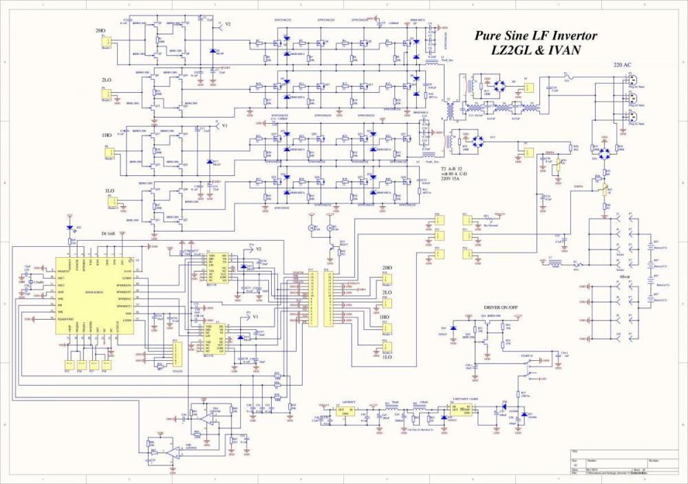medium resolution of pure sine wave power inverter 3kw schematic