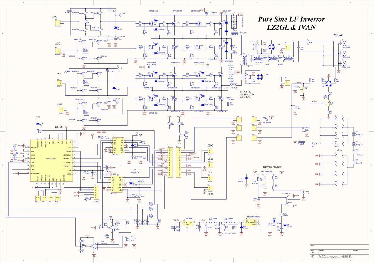 hight resolution of pure sine wave power inverter 3kw schematic