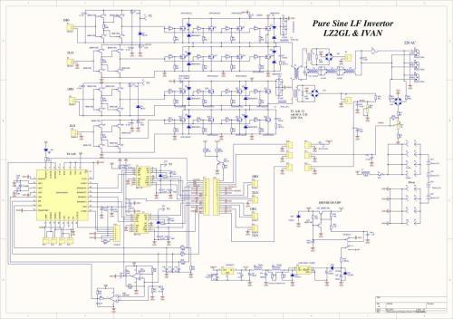 small resolution of pure sine wave power inverter 3kw schematic