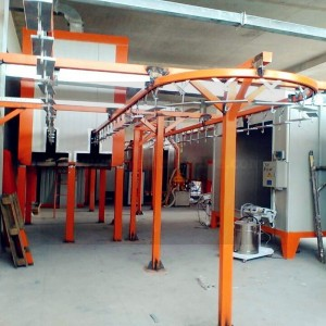 supplier of powder coating ovens wet painting booth powder coating plant powder coating machines ed painting line of china