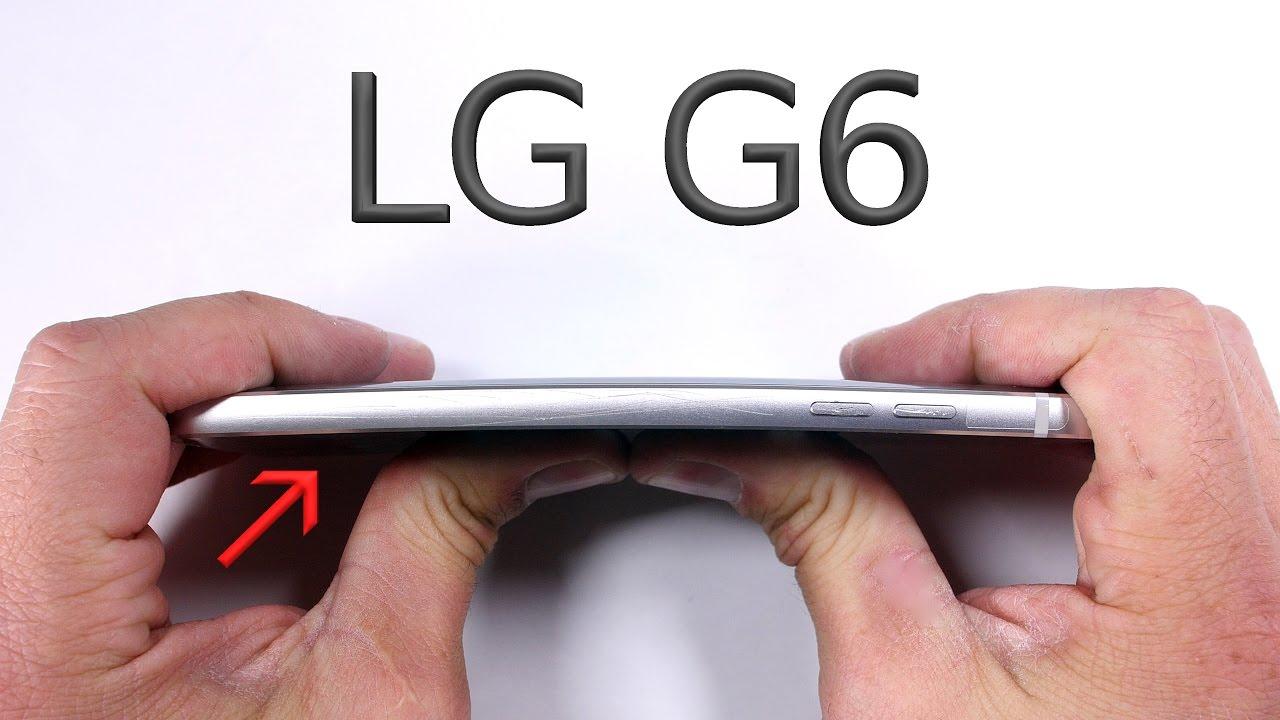 """اختبار الانحناء – الشاشة الكبيرة ليست """"أقوى"""" ميزات هاتف LG G6"""