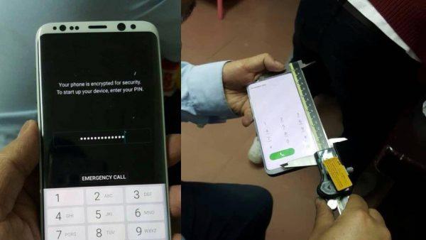 هذا هو هاتف Galaxy S8  باللون الأبيض