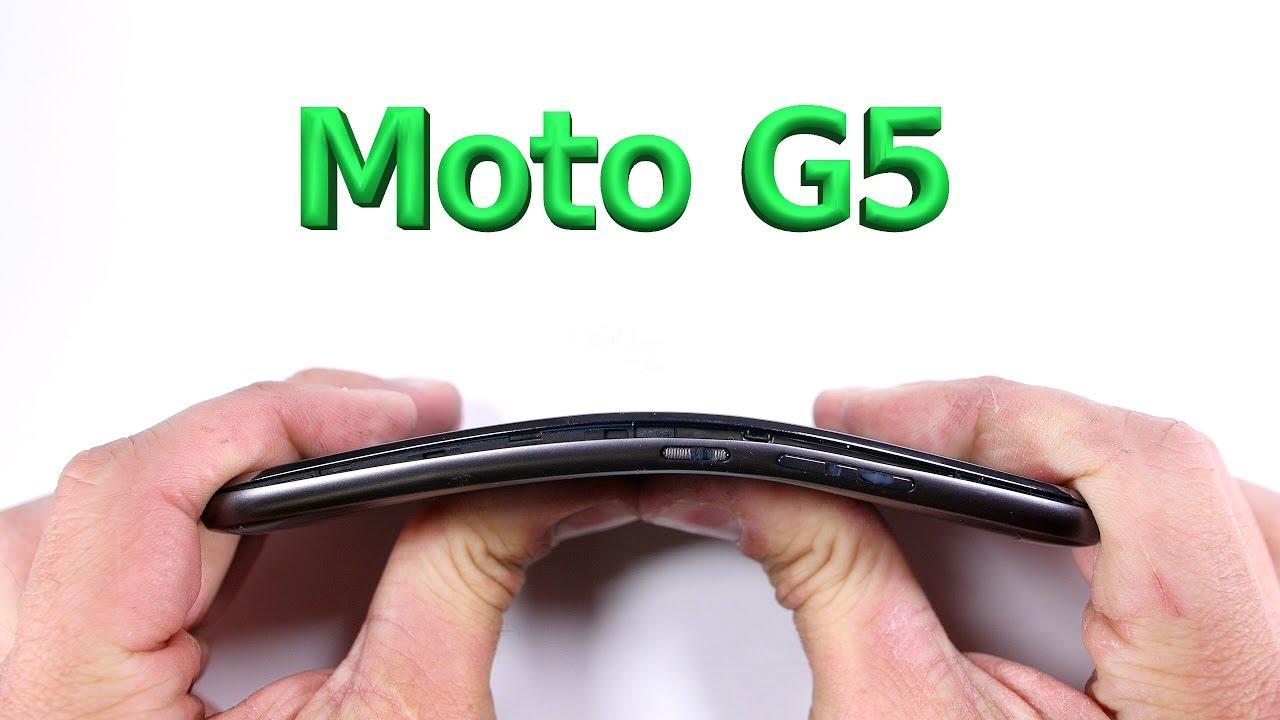 اختبار الانحناء – هاتف Moto G5 الجديد يخضع لامتحان الجودة..فهل نجح؟