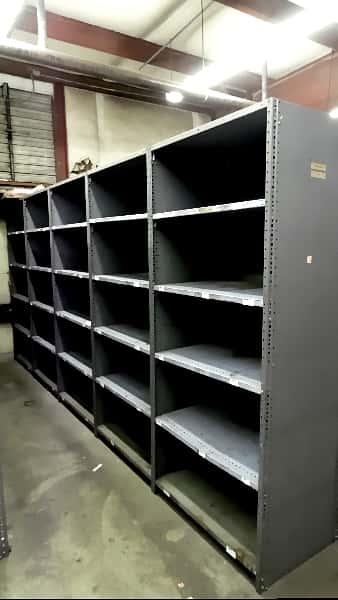 used industrial metal shelving