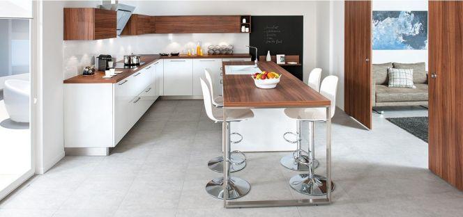 table cuisine bois blanc