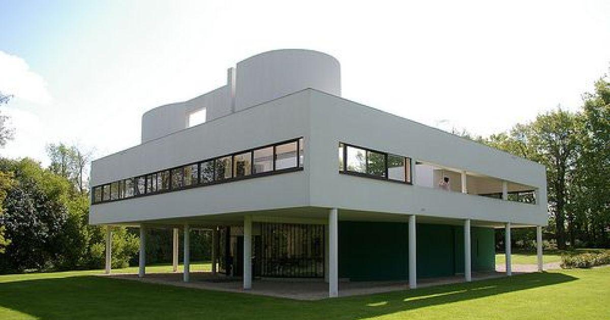 Les maisons style Corbusier toitterrasse plan libre fentrebandeau