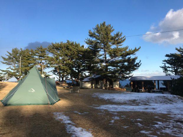 神割崎キャンプ場から冬キャンプの様子をお届け!