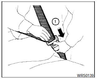 Nissan Maxima: Three-point type seat belt with retractor
