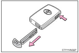 Toyota Camry: Using the mechanical key (vehicles with a