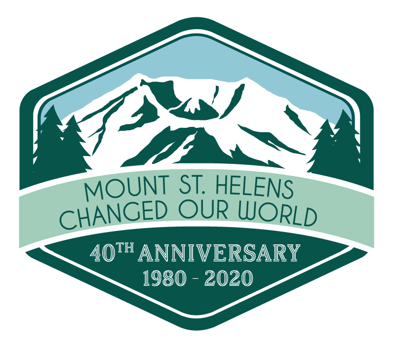 Visit Mt St Helens 40 Years Logo