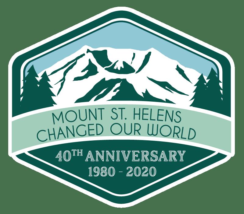 Visit Mt St Helens 40 Years Logo