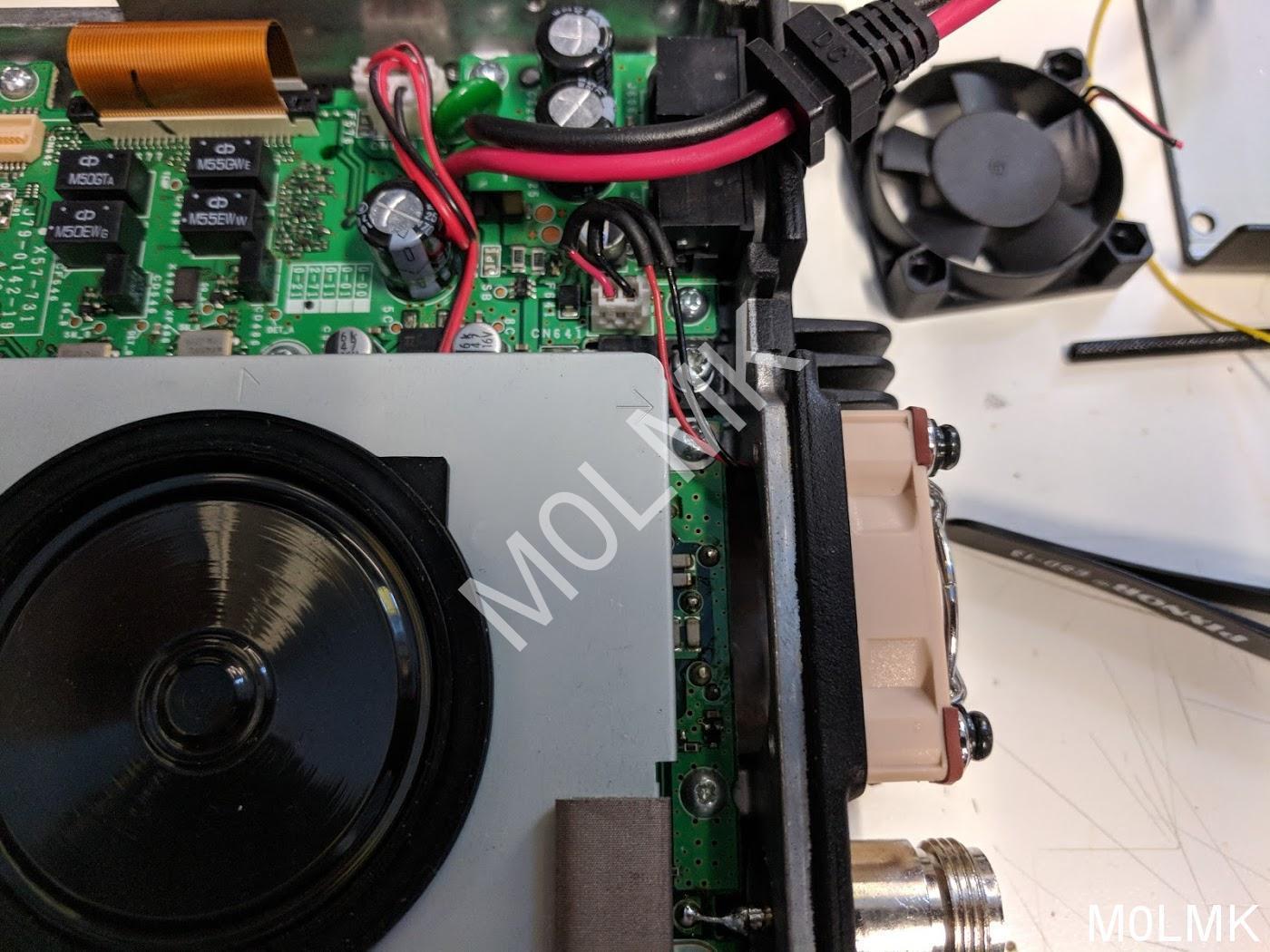 TM-V71 fan upgrade – M0LMK