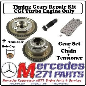 Mercedes M271 W204 C250 CGI TURBO Timing Gears Cam Adjusters Vanos Complete Repair Kit – 2710520416