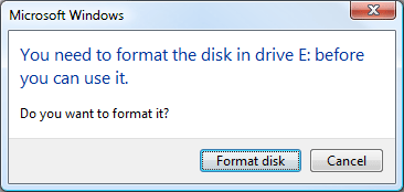 Fix USB flash drive not formatted error & recover data from unformatted USB drive