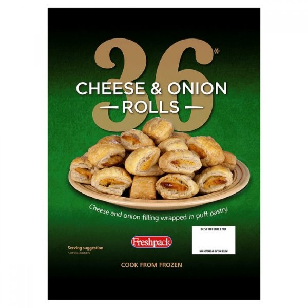 M3 Distribution Freshpack 36 Cheese and Onion Rolls M3
