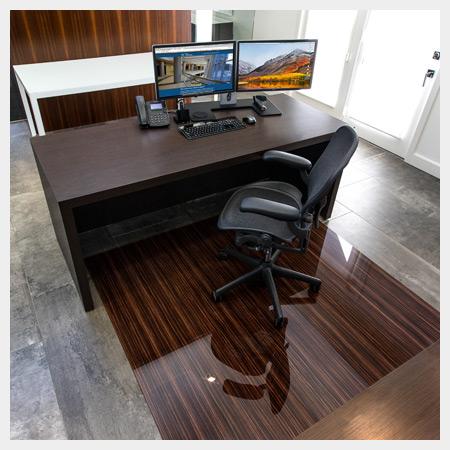 desk chair glass mat baby shower alternatives mats m3 techologies