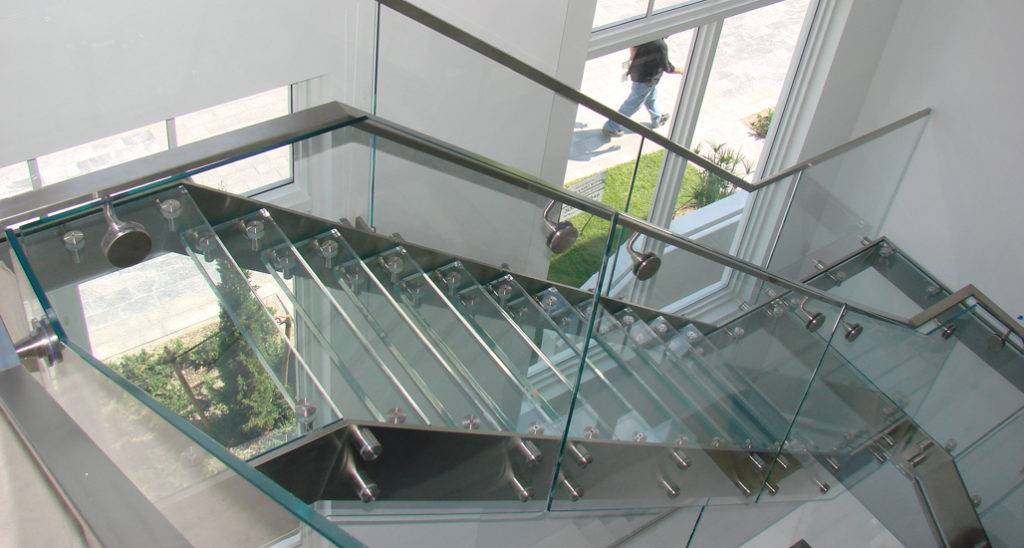 Interior  Exterior Custom Glass Stair Treads