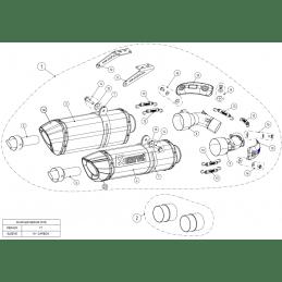 Akrapovic S-D10SO7-HZC Ducati Monster 696 795 796 1100