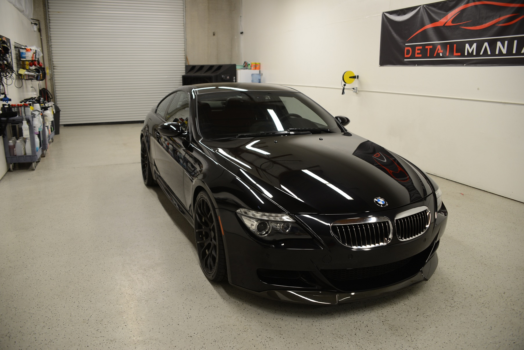 BMW M5 with clean glass top coating.