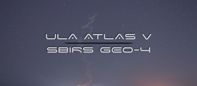 ULA Atlas V SBIRS GEO-4