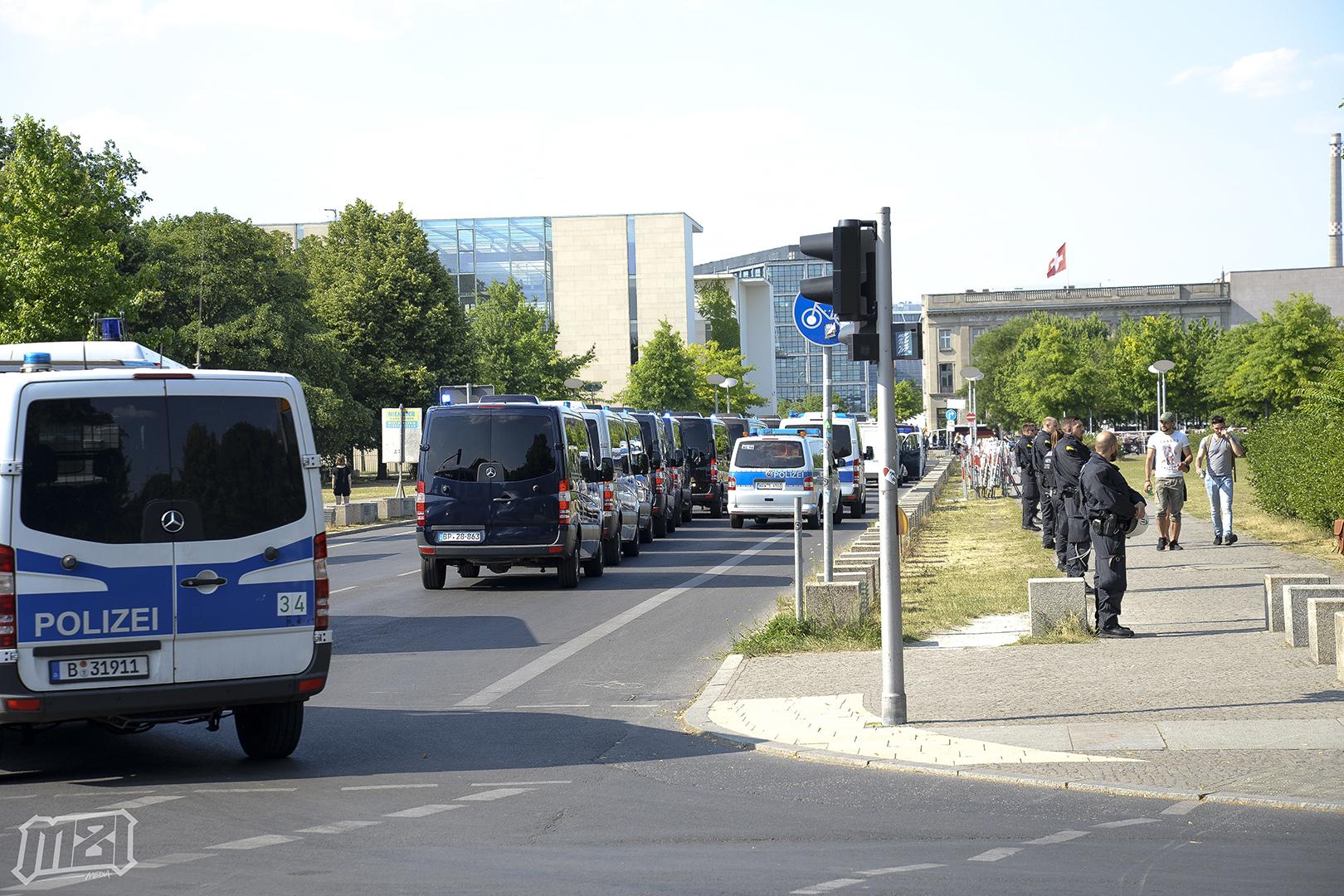 Berlin Germany Side Street Blockade