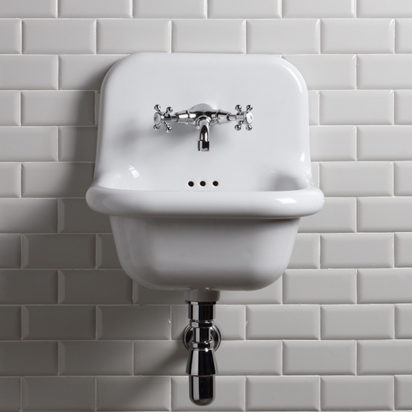 lavabo retro suspendu de 42 cm true colors bleu provence