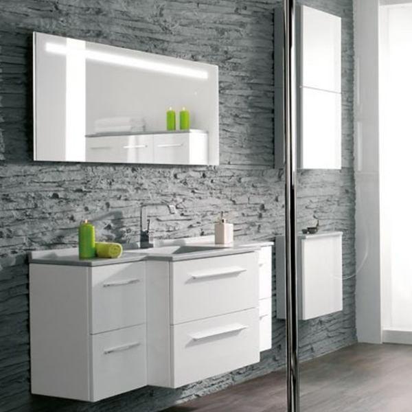 Meubles vasque de salle de bain  CITY  1415cmx564cm  Ambiance Bain