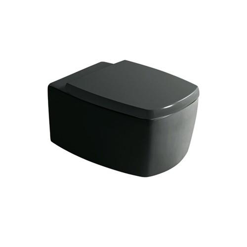 wc suspendu midas noir 52x38